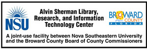 Find out more about Nova Southeastern University: Library website, hours, locations, catalog, Inter-Library Loan, Genealogy Information, etc